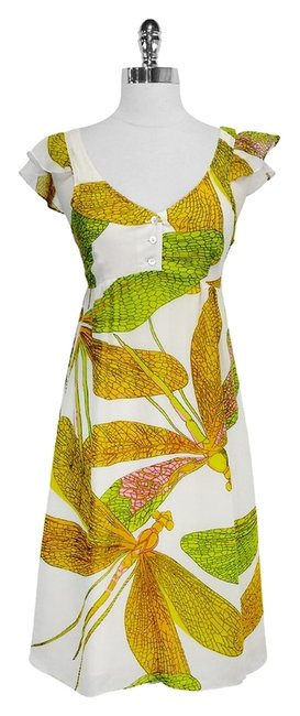 Preload https://item1.tradesy.com/images/nieves-lavi-silk-dragonfly-print-mid-length-short-casual-dress-size-6-s-2296890-0-0.jpg?width=400&height=650