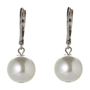 Givenchy Silver-Tone & White Pearl Drop Earrings