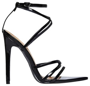 Ego Black Patent Sandals