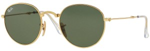 Ray-Ban Ray Ban RB3532 001 Round Gold Frame Green Classic 47mm Lens Sunglasses