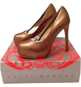 Kelsi Dagger Bronze Pumps
