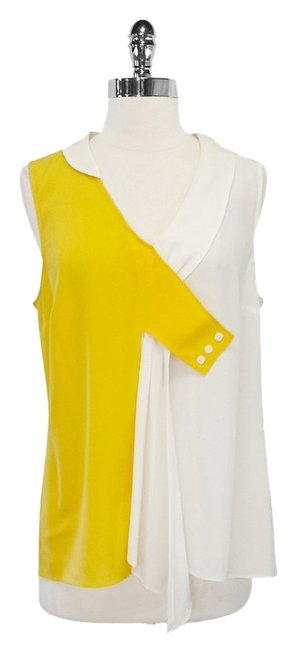 Preload https://item1.tradesy.com/images/maeve-yellow-and-white-silk-dyad-blouse-size-10-m-2296920-0-0.jpg?width=400&height=650
