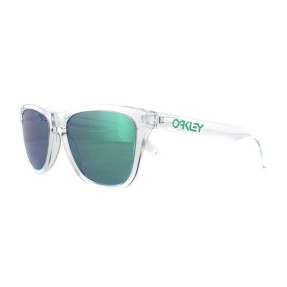 Oakley Polished Clear & Jade Iridium New Oo9013-a3 Frame Lens ...