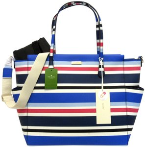 Kate Spade Ships W/In 24 Hours Striped Diaper Bag
