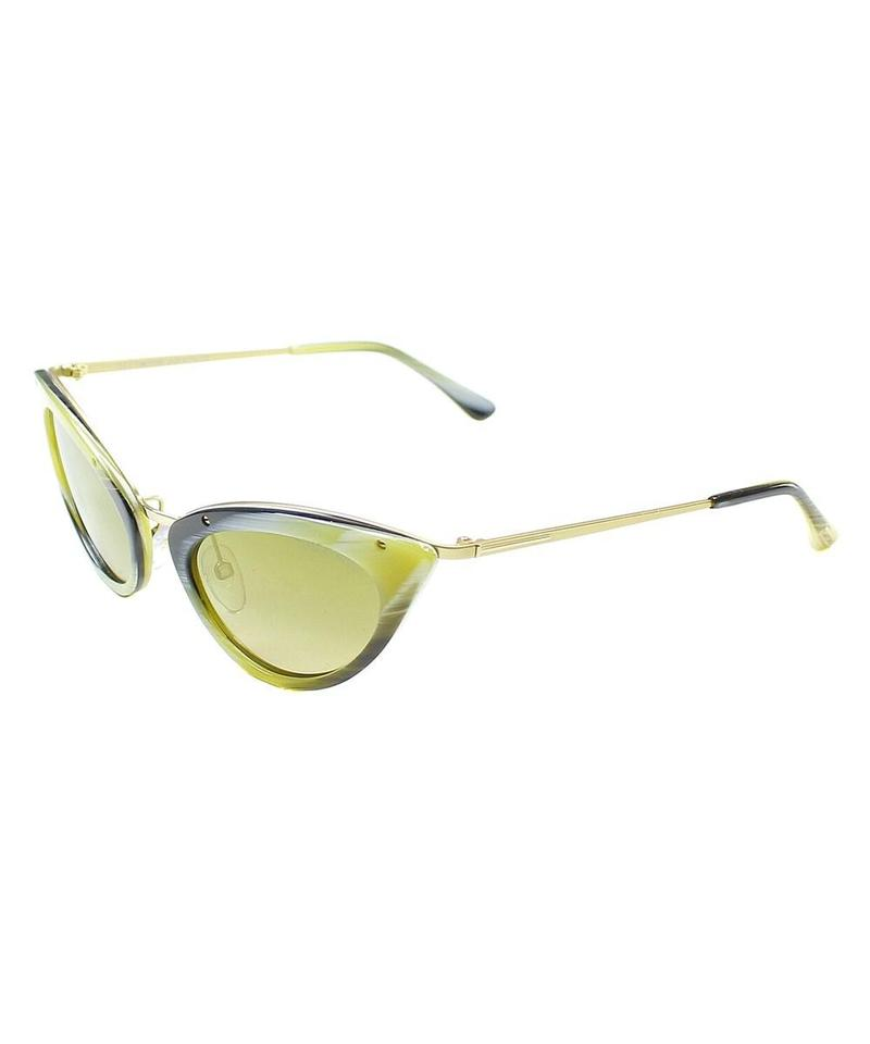 4a039882505 Tom Ford Olive Green Horn  Gold  Brown New Grace Tf349 64j Sunglasses