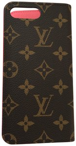 Louis Vuitton iPhone 7 Plus & 8 Plus Folio Case Red Monogram