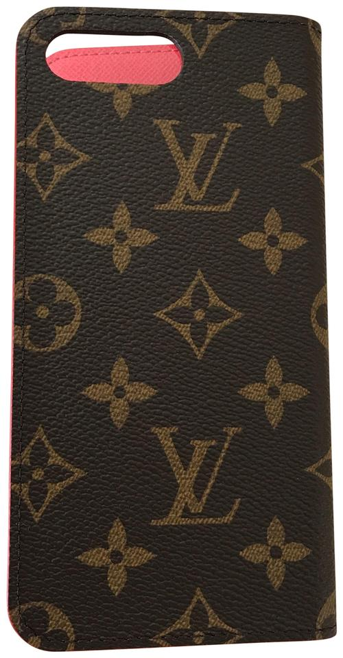 best service 644c5 83acb Louis Vuitton Monogram/Red Iphone 7 Plus & 8 Plus Folio Case Tech Accessory