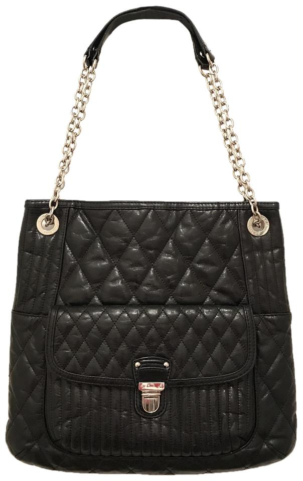 b3a1db3f8ed Coach Purse Handbag Shoulder Hobo Quilted Tote in Black Silver Crackled  Image 0 ...