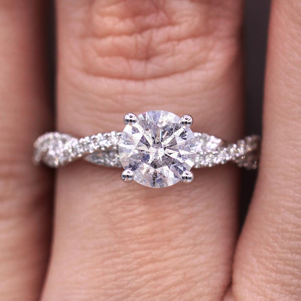 1.29cts Fascinating Pave Twist Diamond Engagement Ring - Tradesy