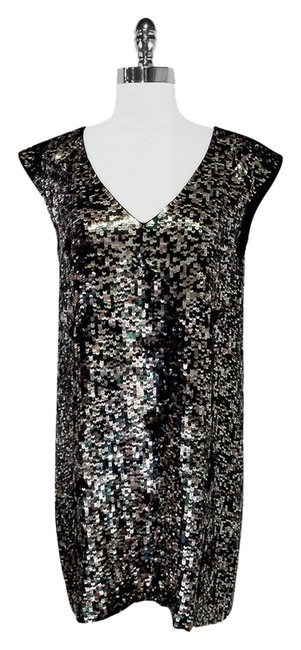 Preload https://item3.tradesy.com/images/french-connection-green-and-silver-sequin-shift-mid-length-night-out-dress-size-8-m-2297032-0-0.jpg?width=400&height=650