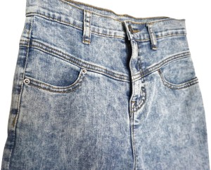 BDG Urban Outfitters Jeans High Waisted Acid Wash Skinny Pants Blue