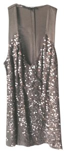 Nanette Lepore Top Grey with Sequins