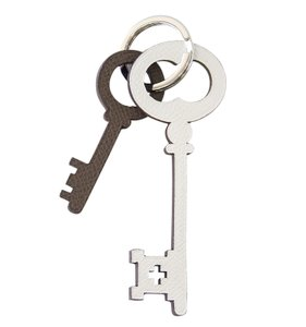 Hermès Hermes Key Ring with Epsom Leather Key Charms in 4 Colors Petite h