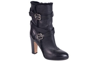 Gianvito Rossi Grained Leather Black Boots