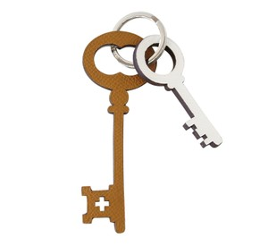 Hermès Hermes Key Ring with Epsom Leather Key Charms Petite h