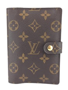 Louis Vuitton #17035 monogram 6 Ring agenda PM check book wallet holder card