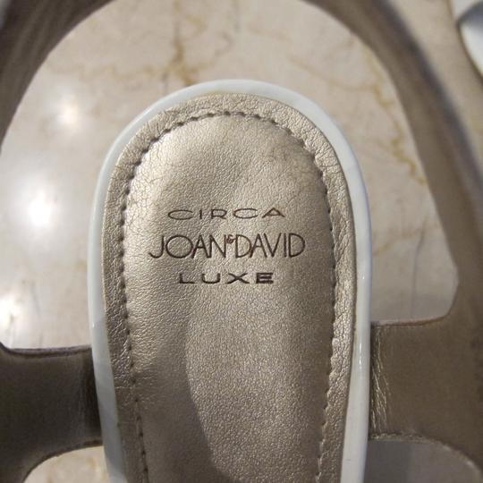 Circa Joan & David White with Gold Sandals