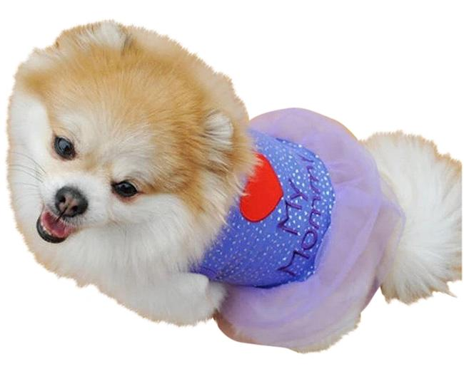 Item - Purple/ Dogs Small I Love My Mommy Cat/Dog Clothing