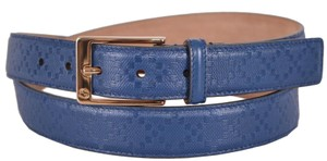 Gucci New Gucci Men's 345658 Cove Blue Diamante Leather Belt 40 100