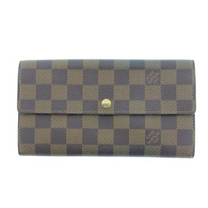 Louis Vuitton Authentic Louis Vuitton Damier Ebene Sarah Bi-Fold Wallet N61724 LV