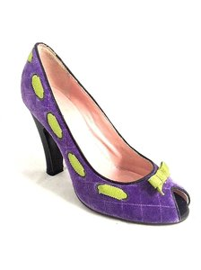 Marc Jacobs Velvet Heels Purple Pumps