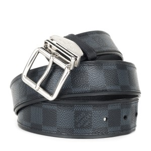 Louis Vuitton Louis Vuitton Black & Charcoal Damier Graphite Sydney Belt