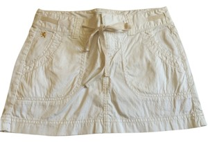 Express Gold Mini Skirt White