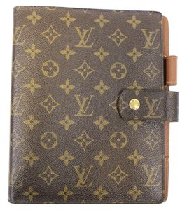 Louis Vuitton LOUIS VUITTON Monogram Canvas Brown Agenda GM Day Planner Cover