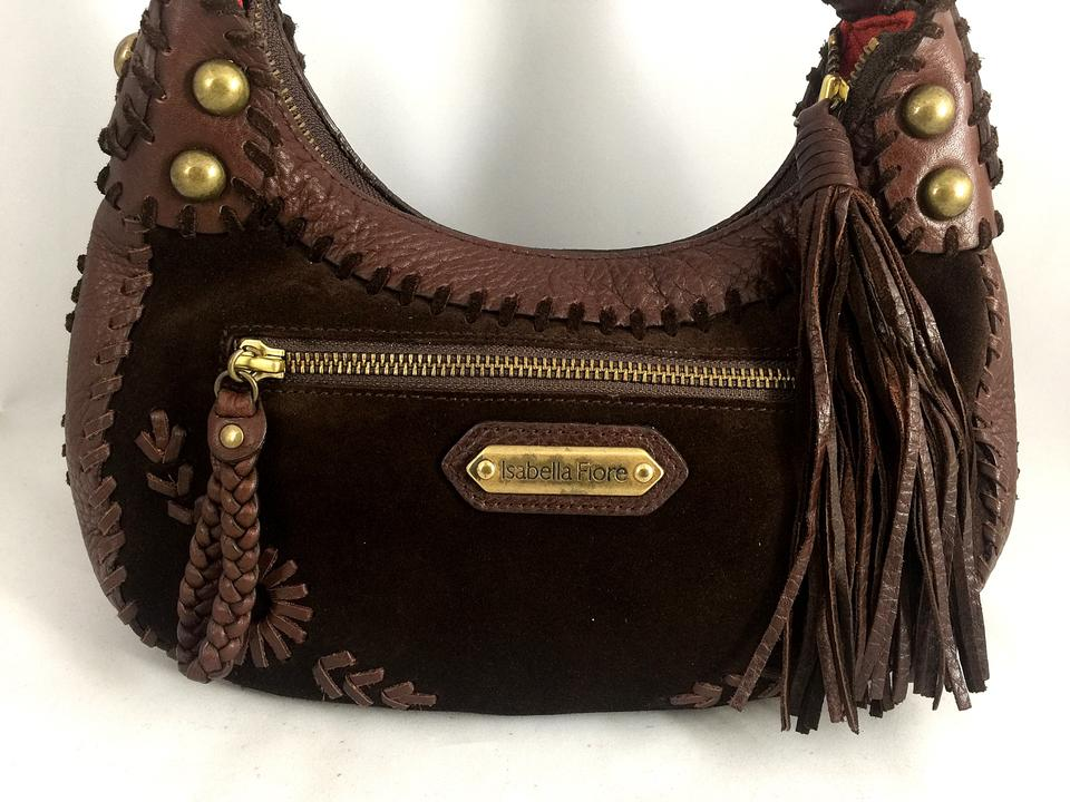 14b86a155443 Isabella Fiore Leather Handbag Purse Satchel in Brown Image 10.  1234567891011
