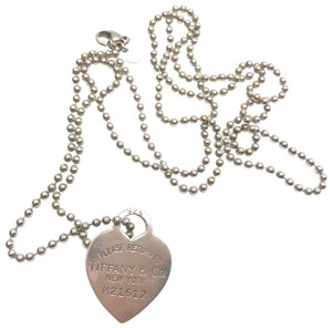 Tiffany & Co. Tiffany & Co. Silver Vintage Return To Heart Tag Long Bead M21512