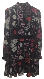 Anthropologie short dress black, red, silver. white. pink. on Tradesy