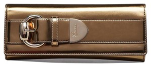 Gucci Evening Patent Leather gold Clutch