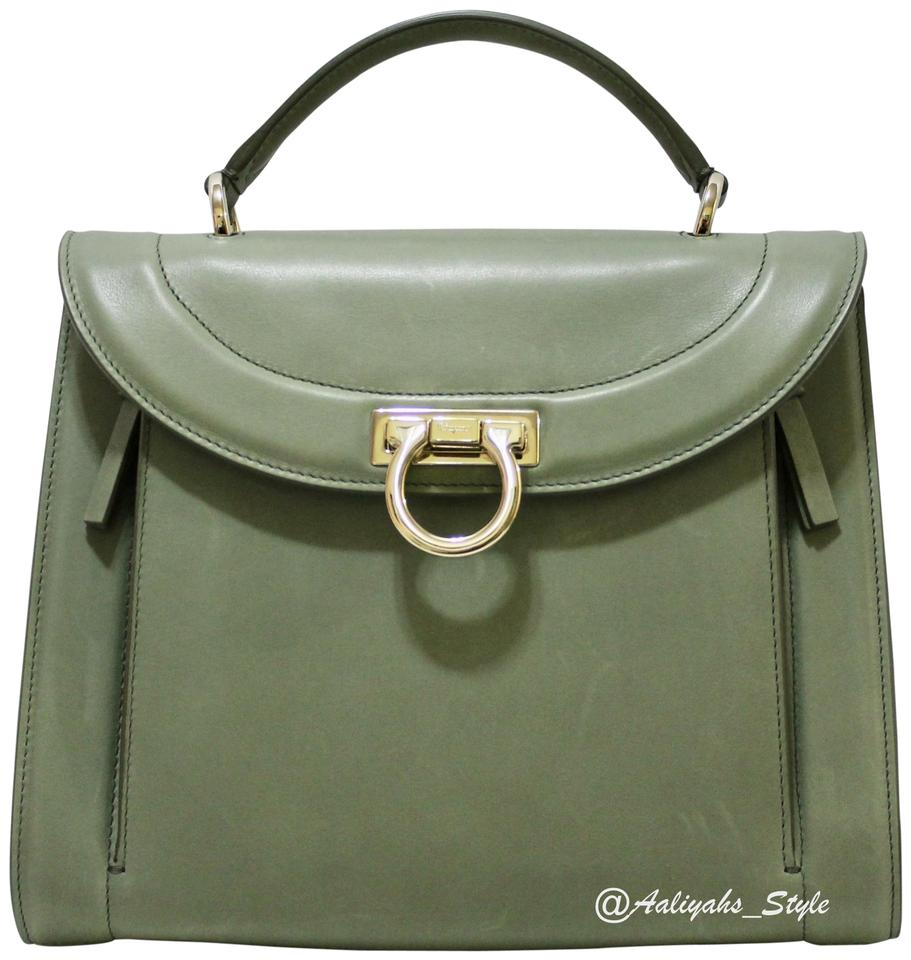 8b95562866a1 Salvatore Ferragamo Crossbody Satchel in Pistachio Green   Gold Image 0 ...