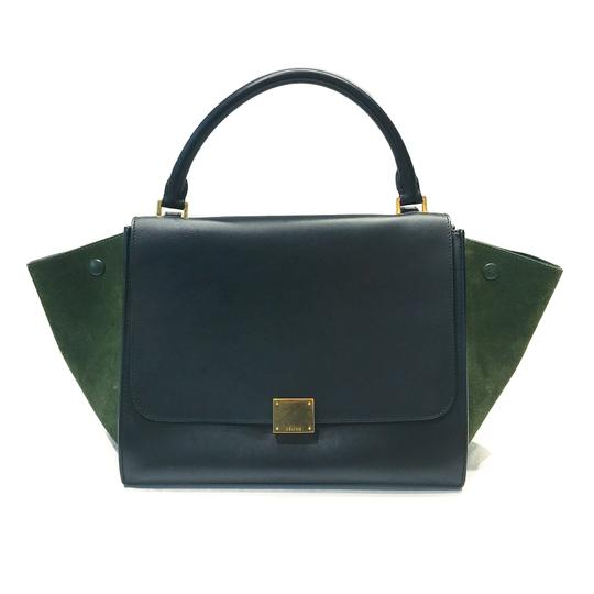 74ef1b9b64be Céline Trapeze Duo-color Medium Black   Green Smooth .