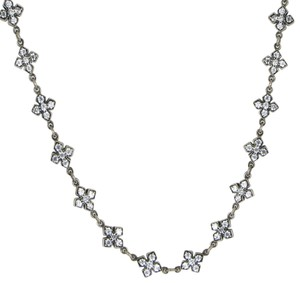 King Baby Queen Pave CZ MB Cross Necklace 26 Inch Sterling Silver Q52-7101W