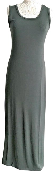 Item - Olive Green Sleeveless Polyester Jar Impire Long Casual Maxi Dress Size 8 (M)
