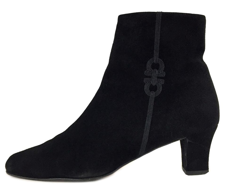 Salvatore Italy Ferragamo Black Italy Salvatore Suede High Ankle Boots/Booties 1dbe3d