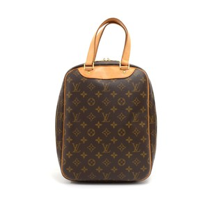473884f4bf27 Louis Vuitton Monogram Canvas Handbag Brown Travel Bag