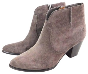 Frye Ankle Suede Charcoal Boots