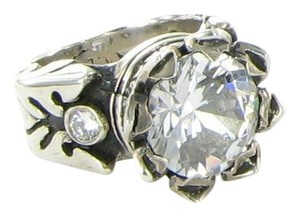 King Baby King Baby Studio Queen Sterling Silver 13mm Crown Ring w/CZ Q20-9044F