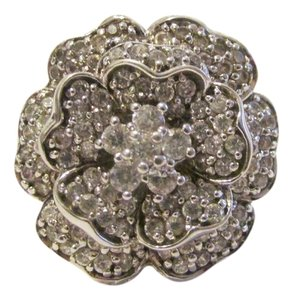 "Suzanne Somers Suzanne Somers ""Love In Bloom"" Pave Flower Ring"