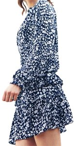 Rails short dress Blue, White Long Sleeve Floral on Tradesy