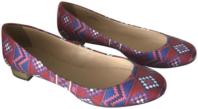 J.Crew Red/White/Denim Blue/Pink Janey Multi Color Flats Size US 7 Regular (M, B) J.Crew Red/White/Denim Blue/Pink Janey Multi Color Flats Size US 7 Regular (M, B) Image 1