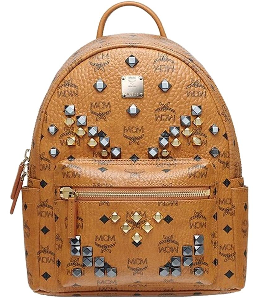 mcm small stark cognac backpack tradesy. Black Bedroom Furniture Sets. Home Design Ideas