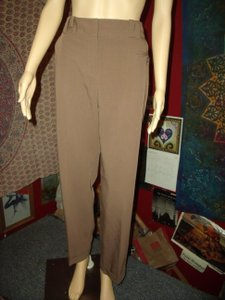 Larry Levine Career Stretch Professional Work Dress Trouser Pants Brown