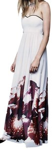 Free People Sleeveless Print Full Length Dress