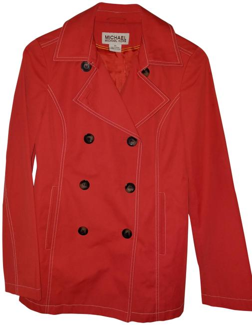 Item - Red Double Breasted Coat Jacket Size 2 (XS)