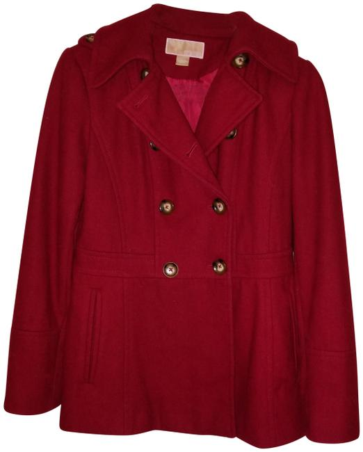 Item - Red Wool-blend Coat Size 6 (S)
