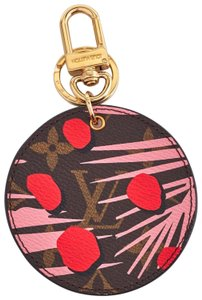 Louis Vuitton Pink Poppy Limited Edition key holder and bag charm