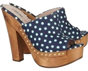 Miu Miu Navy Platforms